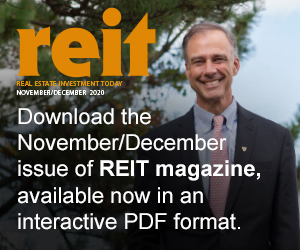 Download the digital version of the November/December issue of REIT Magazine.